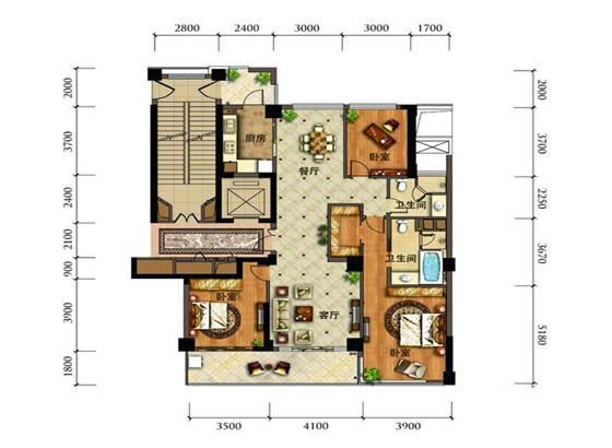 2间2层楼房屋内设计图图片